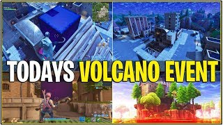*NEW* Fortnite: TODAY'S LOOT LAKE VOLCANO CUBE ACTIVATION EVENT! *Final Day*