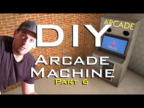 Assembling the DIY Retro Arcade Cabinet Using Only Wood Glue!