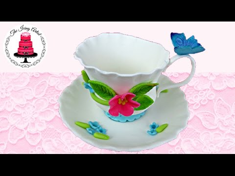 3d Gumpaste Teacup With Template How To With The Icing Artist