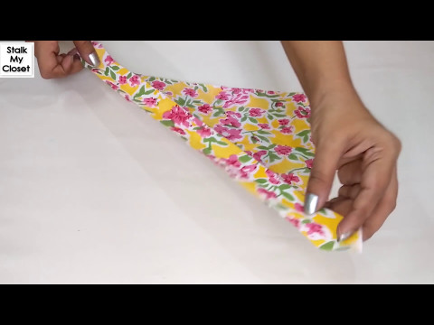 How to use Bias Strip to Finish Neckline / Armholes / Cut Outs | #SewingCourseforBeginners thumbnail