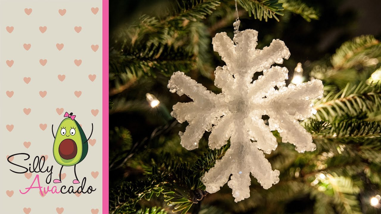 how to make a crystal snowflake ornament w borax kid friendly diy christmas craft holidays youtube