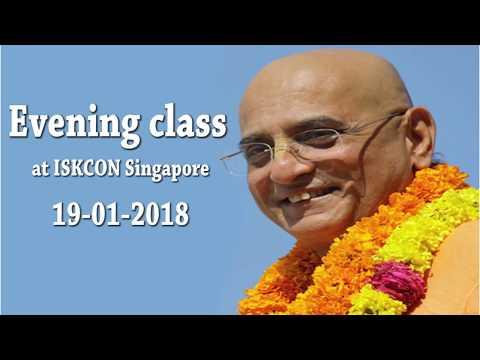 Evening Class ISKCON Singapore Temple 19 Jan 2018
