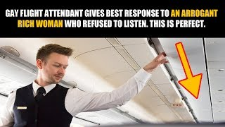 Скачать Gay Flight Attendant Has A Very Interesting Way Of Dealing With Arrogant And Rich Idiot