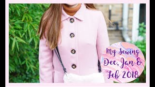 My Sewing December January and February 2018