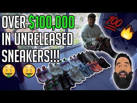 Meet one of the youngest sneaker collectors in the world. 14 years old and over $100k in sneakers.
