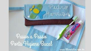 Aprenda a fazer passo a passo esse lindo Porta Higiene Bucal e toalhinha de boca