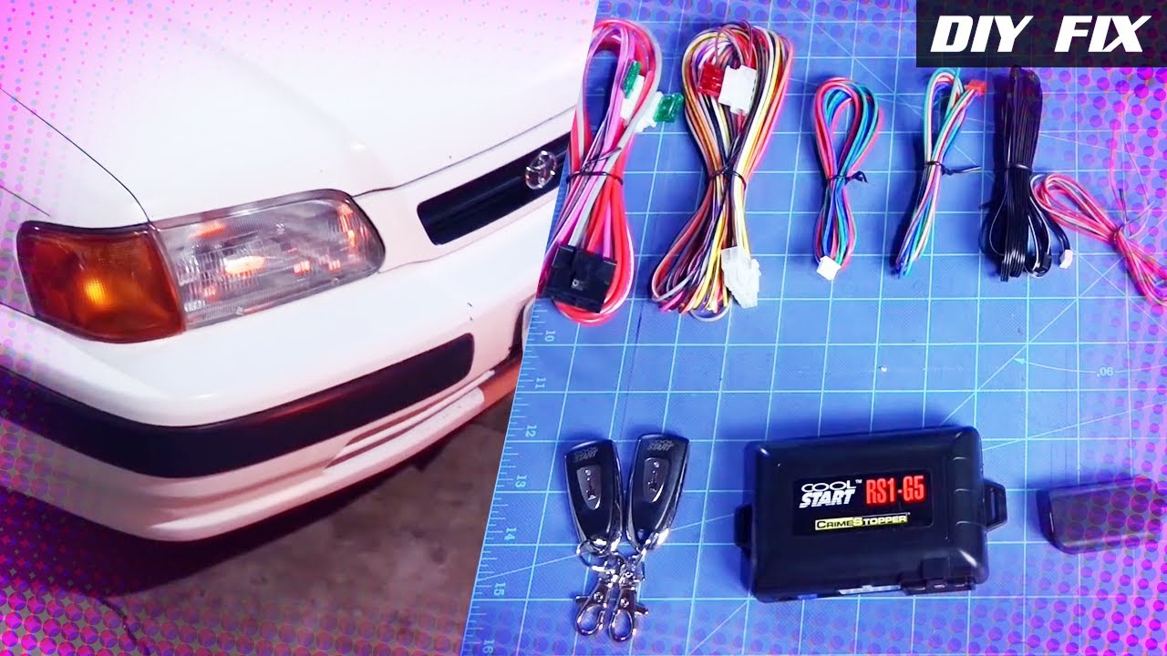 Diy Fix Remote Start Rs1 G5 Toyota Tercel English Youtube Starter Diagram