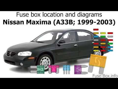 fuse box location and diagrams: nissan maxima (a33b; 1999-2003) - youtube  youtube