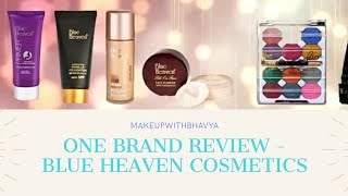 Blue Heaven - One Brand Makeup || Makeup under Rs. 300 || Affordable Indian Drugstore products