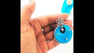 How to make Silk thread Ramleela earrings/Ramleela earrings tutorial