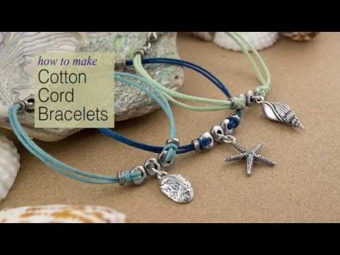 How To Make Cotton Cord Charm Celets Using Tierracast Components