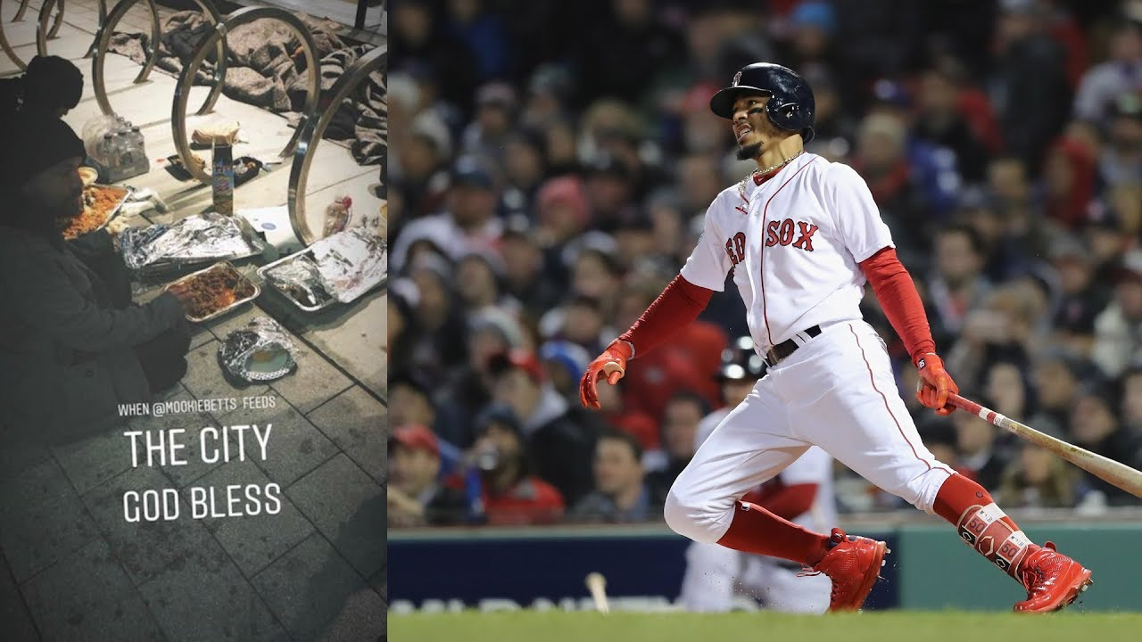san francisco 6d232 ab656 Red Sox Star Mookie Betts Brings Homeless People Food After World Series Win