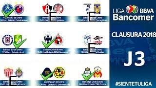 Mis PREDICCIONES para la JORNADA 3 LIGA MX torneo CLAUSURA 2018