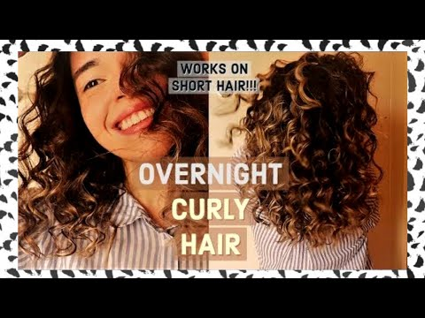 Heatless Curls | How To Get Super Small Curls
