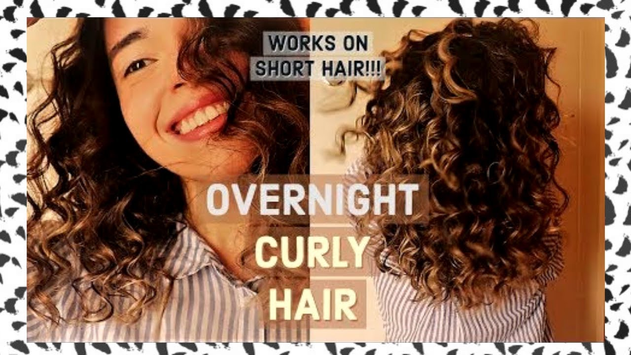 Heatless Curls For Short Hair How To Get Super Small Curls Youtube