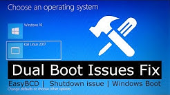 Dual Boot Kali Linux Using EasyBCD | Fix dual boot issues: Shutdown, Windows boot, Change Bootloader