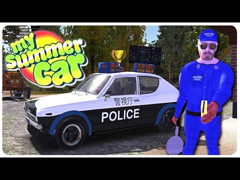 Tokyo Police Paint Mod Flying Glitch My Summer Car Gameplay