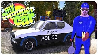 Tokyo Police Paint Mod + Flying Glitch! - My Summer Car Gameplay | Funny Moments #7