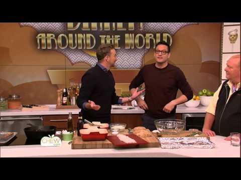 Josh Hopkins Fries Up Fish & Chips with Clinton  The Chew