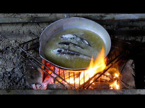 Одесский морской бычок жаренный на костре - Готовим вместе с Аней
