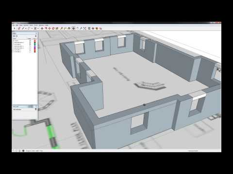 House Modeling in SketchUp - 1