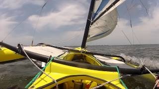 BartsGoPro - A WindRider Day - WindRider 17 Trimaran Sailing at Anna Maria Island Florida - GoPro