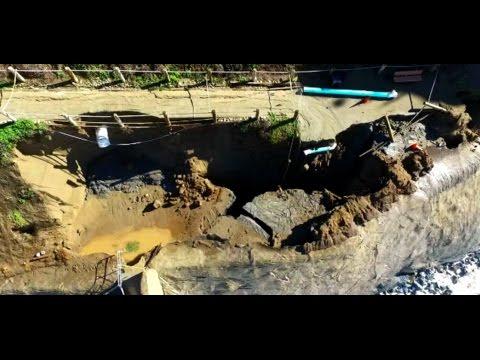 Coastal Erosion Drone Footage Pacifica California