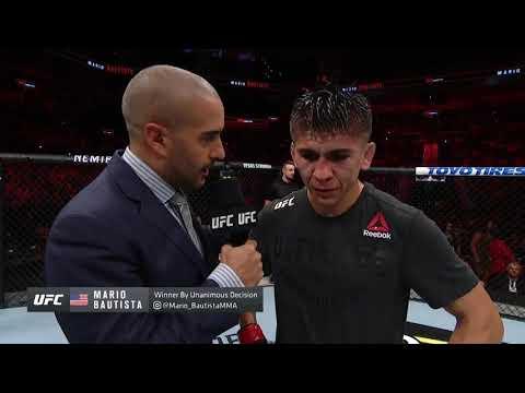 UFC San Antonio: Mario Bautista Octagon Interview