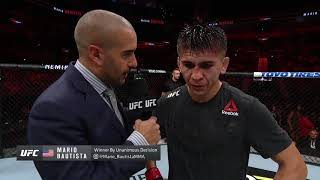 UFC San Antonio: Mario Bautista Octagon Interview