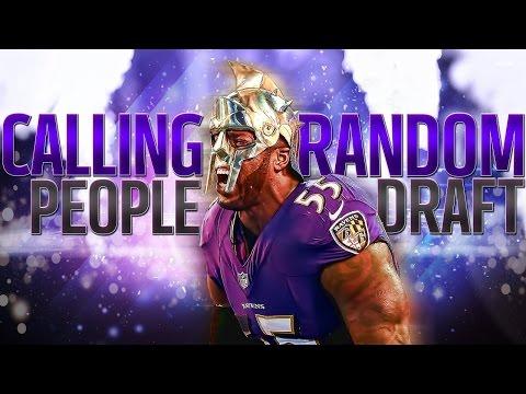Madden NFL 16 Draft Champion Calling Random People To Draft My Team 97 Kapernick!!