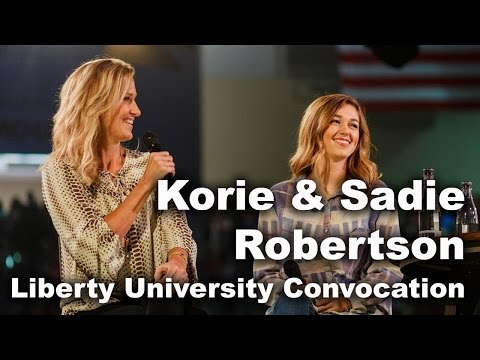 Sadie & Korie Robertson  Liberty University Convocation