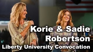 Sadie & Korie Robertson - Liberty University Convocation