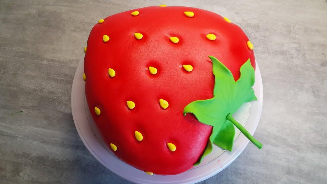 Торт ягодка клубничка | Как собрать и украсить торт своими ...