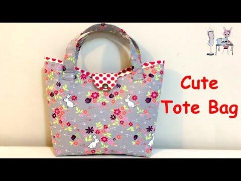 TOTE BAG    HANDBAG   CUTE BAG   DIY BAG   BAG SEWING TUTORIAL   coudre un sac   DIY BOLSA