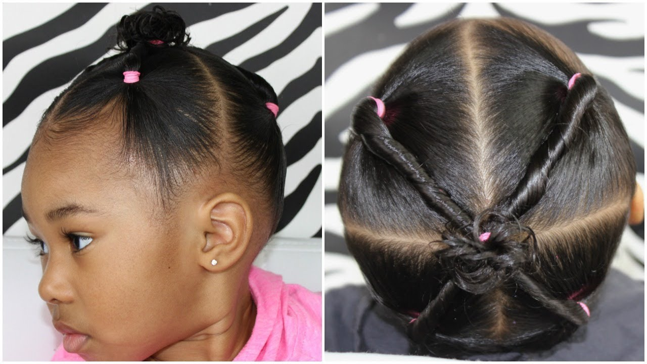 4 ponytails with Twists | Easy Hairstyle for Toddlers - YouTube