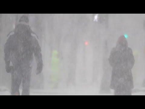 "Conditions worsen as winter ""bomb cyclone"" slams coast"