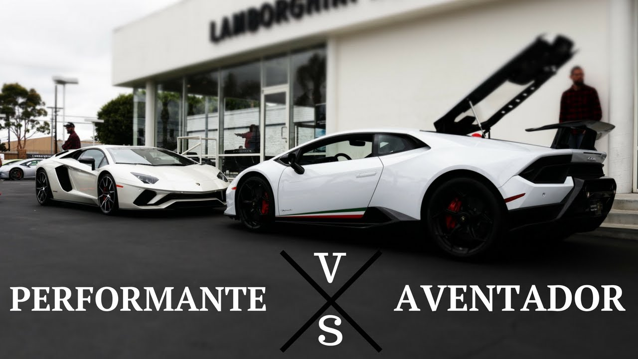 lamborghini huracan performante vs lamborghini aventador sv youtube. Black Bedroom Furniture Sets. Home Design Ideas