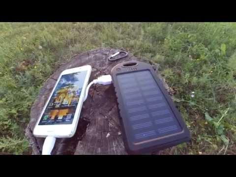 Power Bank на солнечных батареях Solar Power Bank 5000mAh, обзор, функции, возможности, емкость