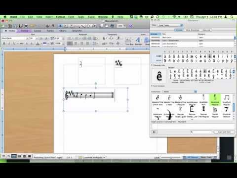 Writing Melodies for Music Worksheets Using Music Fonts