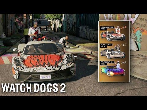 Watch Dogs 2 - All DLC Outfits, Cars, Camo (Including Pre Order Bonus)