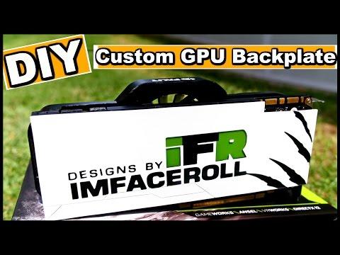 How To Make A DIY Custom GPU Backplate - PC Modding Tutorial