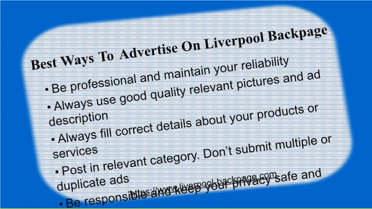 New Backpage Site Is Liverpool Backpage An Alternative To Backpage