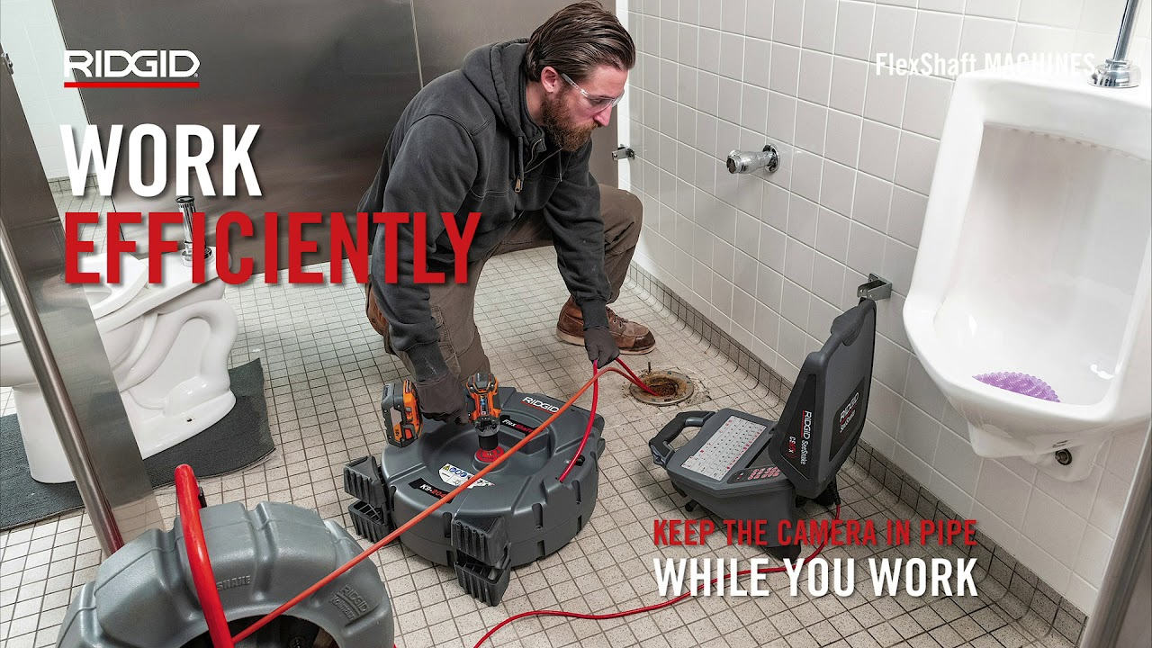 RIDGID FlexShaft™ Drain Cleaning Machines