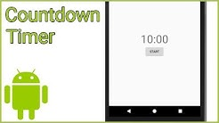 Simple Countdown Timer - Android Studio Tutorial