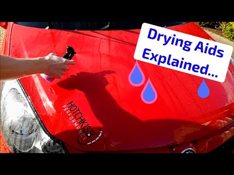 What is a Drying Aid? Episode 5 - Car Cleaning, Valeting and Detailing Products Explained!