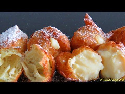 Французские ПОНЧИКИ из заварного теста - Homemade Beignets choux bánh Quảy tròn BÁNH Su KEM Chiên