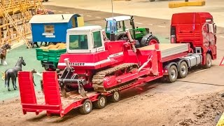 R/C trucks, heavy machines delivery to the new bridge construction site!