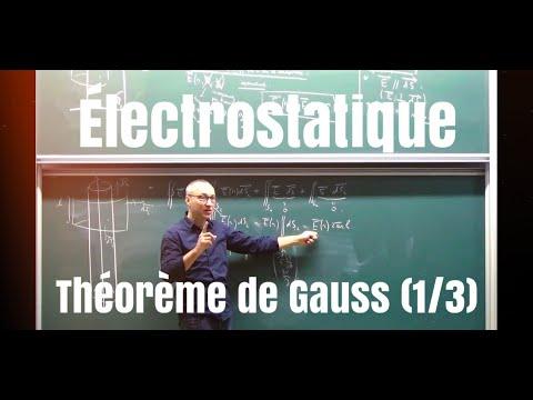 MP/PC/PSI/PT Cours électrostatique. Théorème de Gauss (1/3)
