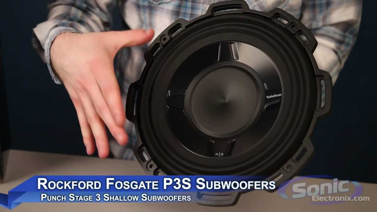 Rockford Fosgate P3s Shallow Car Sub Punch Stage 3 Subwoofer Youtube