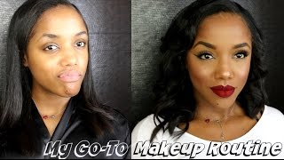 One of Ellarie's most viewed videos: My Go To Makeup Routine | Highlight & Contour, Liner, Lips & Lashes | Ellarie